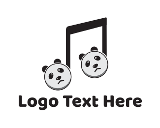 Note - Panda Music logo design