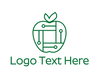 Programming - Digital Apple logo design