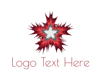 Asteroid - Star Burst logo design