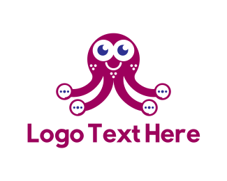 Translation - Ellipsis Octopus logo design