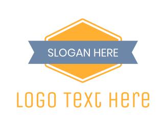 Badge - Modern Yellow Badge logo design