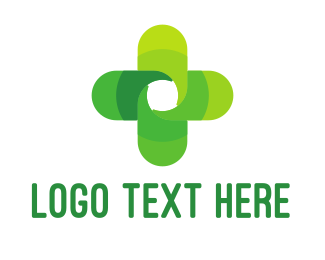 Therapy - Green Cross logo design
