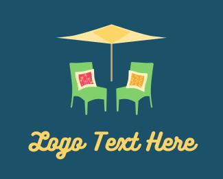Umbrella - Garden Chairs logo design