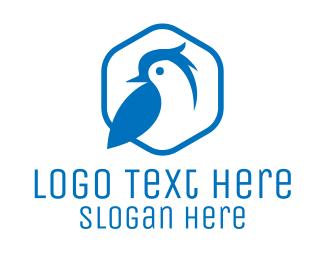 Small - Blue Small Bird logo design