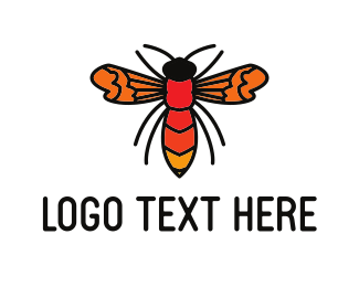 Bumblebee - Orange Wasp logo design