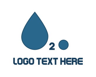 Drinking - H2O Water Drop logo design