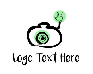 Lens - Cool Camera logo design