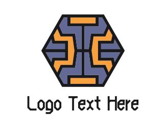 Agritech - Tech Hexagon logo design