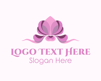 Drawing - Pink Orchid logo design