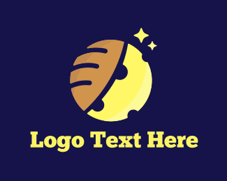 Baguette - Moon & Bread logo design