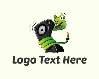 Serpent - Music Snake logo design