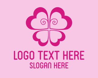 Girl - Butterfly Flower logo design