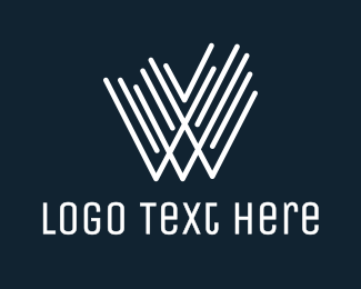 Lavish - White W Line Stroke logo design