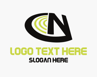 Wireless - Letter N logo design