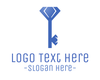 Locksmith - Diamond Key logo design