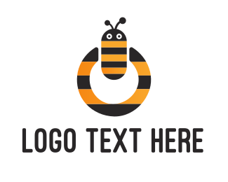 Wasp - Bee Power logo design