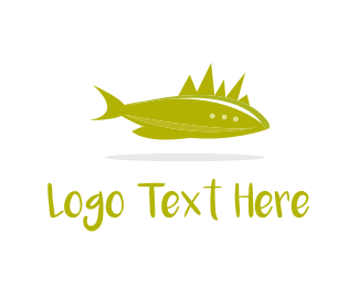 Punk - Fish & Horns logo design