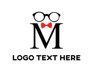 Bowtie - Black Glasses logo design