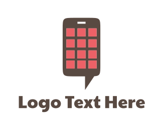 Phone - Chat Application logo design