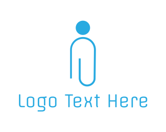 Office - Blue Office Man logo design