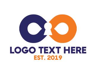 Loop - Infinity Lock logo design