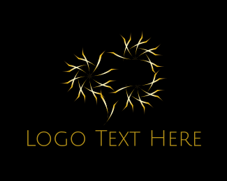 Firework - Golden Stars logo design