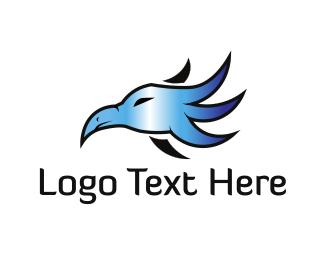Vulture - Metallic Bird logo design