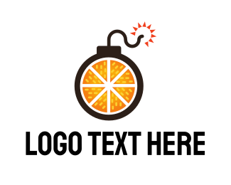 Bomb - Orange Weapon logo design