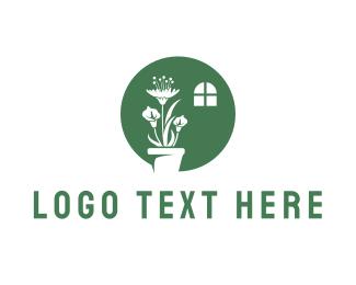 Vase - Indoor Plant logo design