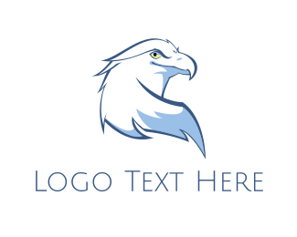 Animal - White Eagle logo design