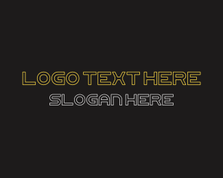Hollywood - Futuristic Font Text logo design