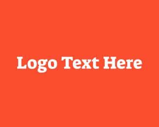 Word - Striking White Serif Font logo design