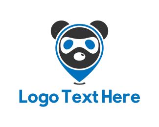 Panda - Ninja Panda logo design