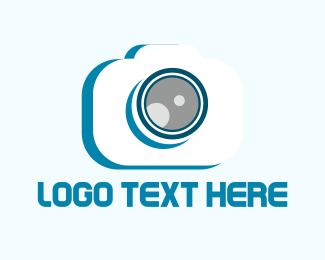 Photograph - White Camera logo design