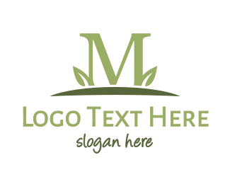 Green Tea - Green M Plant logo design