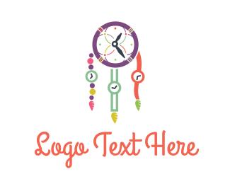Tribal - Time Catcher logo design
