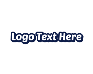 Legible - White & Blue logo design