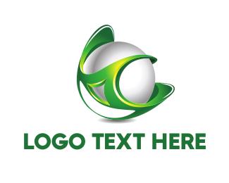 Sphere - Green Globe logo design