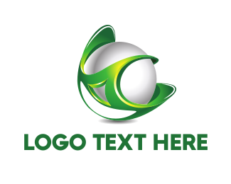 Ball - Green Globe logo design