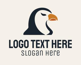 Penguin - Brown Bird logo design