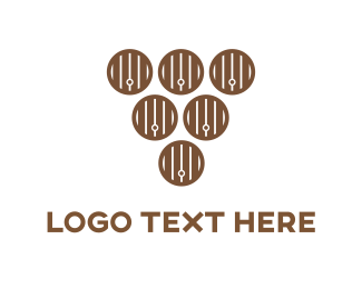 Pub - Wood Barrels logo design