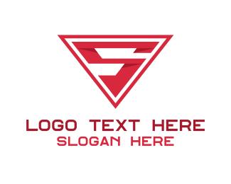 Text - Red Letter S logo design