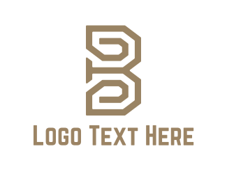 Text - Maze B logo design