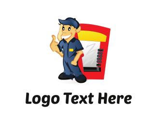 Male - Vending Cartoon logo design