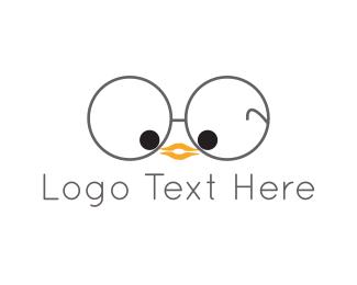 Nerd - Nerd Bird  logo design