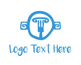 Mythology - Greek Fork logo design