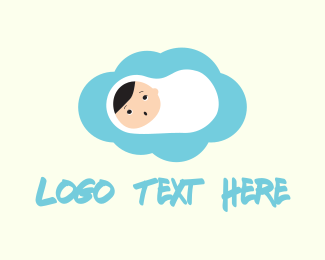 Newborn - Cute Baby logo design