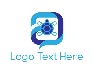 Tortoise - Turtle Chat logo design