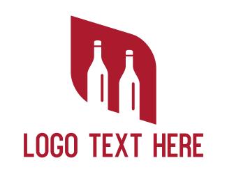 Wine Tasting - Red Diamond Bottles logo design