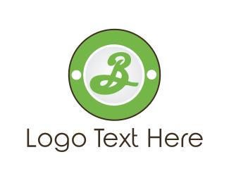 Initial - Green Letter B logo design